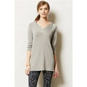 Anthropologie One September Gray VNeck Tunic